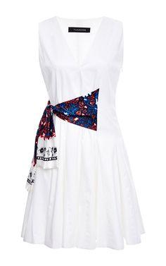 Side-Tie Cotton Dress by Thakoon Now Available on Moda Operandi