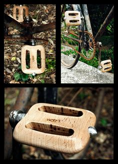 Pedales para bici en #madera. // Wotz wooden bicycle #pedals #wood
