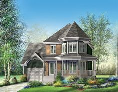 Victorian House Plan chp-32275 at COOLhouseplans.com