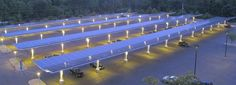 Awesome #solar carport structure that has #LED #Lighting