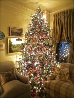 The living room Christmas tree