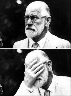 Sigmund Freud does a face-palm