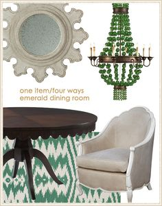 Oly Chair in Dining Room by Layla Grayce Featuring Genevieve Gorder Rug Uzbeck