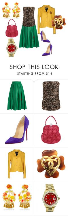 """""""Untitled #6240"""" by billyblaze ❤ liked on Polyvore featuring VIVETTA, WearAll, Christian Louboutin, Roberta Di Camerino, Galliano, Chanel, Mercedes Salazar, Rolex and plus size clothing"""