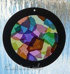 Paper Craft for Summer - Kids Craft - Kaleidioscope Suncatcher
