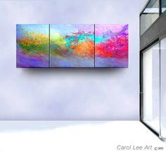 Cosmic ABSTRACT oil painting original modern canvas contemporary fine art leearte - Carol Lee art studio. $399.00, via Etsy.