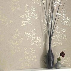 Bijou Beige Wallpaper - Floral Wall Coverings by Graham  Brown
