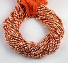 """2 Strand Copper Pyrite Gemstone Faceted Rondelle Beads 3.5-4mm bead 13"""" Long #luctsa #Faceted"""