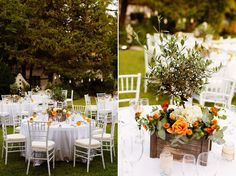 Wedding centrepiece, Rustic weddding in Spain using olive trees and seville oranges by Rachel Rose Weddings , photography by www.limelight.pl