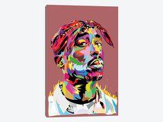 Tupac by TECHNODROME1 1-piece Canvas Art Print