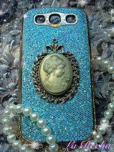 Samsung Galaxy S3Sparkle Blue Vintage Empress by larecha on Etsy, $19.95
