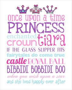 Princess Subway Art Free Printable