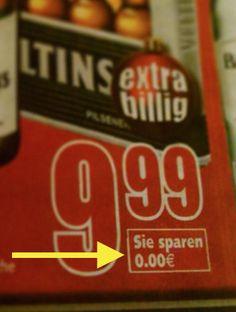 Diese radikale Preissenkung. | 57 Supermarkt-Fails, die die Geschichte verändert haben