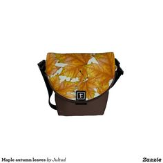 Maple autumn leaves messenger bag.