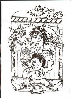 Čtyři koně ve dvoře Colouring Pages, Music Notes, Preschool, Kids, Color, Carnavals, Quote Coloring Pages, Young Children, Coloring Pages