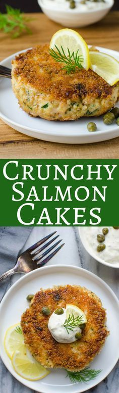 Ever made salmon cakes? They're easy and delicious! Tender and flaky with a panko breading and a tangy tartar sauce - these are the BEST salmon cakes!