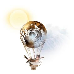 Around the World in a Teacup Balloon inspiration for my next tattoo design