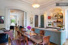 This dining room/kitchen is amazing