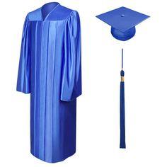 Matte Navy Blue Bachelor Cap, Gown & Tassel   GraduationCapandGown ...