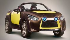 http://chicerman.com  carsthatnevermadeit:  Daihatsu Copen Adventure 2016. At this years Tokyo Auto Salon Daihatsu presented three variations on their Kei-car roadster Copen. The Adventure was a jacked-up all-wheel-drive version powered by a 660cc turbo-charged 3-cylinder engine  #cars