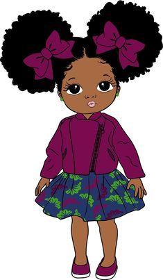 Black Love Art, Black Girl Art, Black Girl Magic, Art Girl, Black Art Painting, Black Artwork, Images Instagram, Black Girl Cartoon, Afro Puff