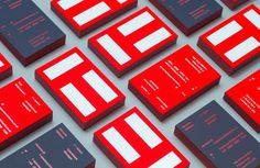 t-space architects foil block business cards