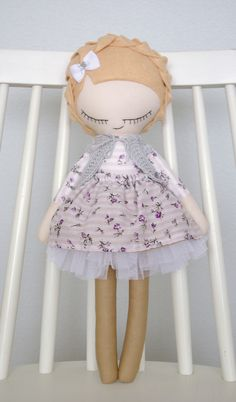 handmade doll, her new owner will be really happy #handmadedoll #handmade #doll #madewithlove #fabricdoll