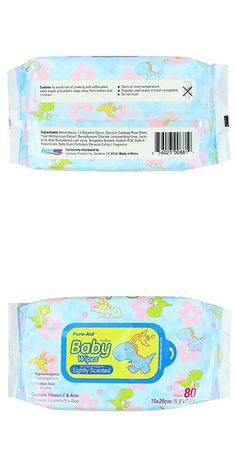 Pure-Aid Lightly Scented Baby Wipes-80ct (2 Pack)