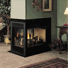 This three sided fireplace is the perfect way to transform a dividing wall into a statement! FMI Balboa 36 Inch Direct Vent 3-Sided Fireplace - Propane $2375.10 efireplacestore.com