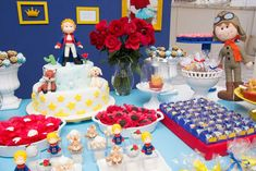 caked's Birthday / My Little Prince Colors - Photo Gallery at Catch My Party The Little Prince Theme, Little Prince Party, Prince Birthday Theme, Boy Birthday, Birthday Party Desserts, Birthday Parties, Dessert Table Backdrop, Baby Boy Baptism, First Birthdays