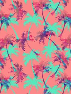 Tropical Palms by Tanya Brown, via Behance palmiers