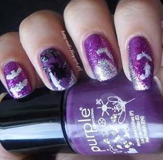 DIY halloween nails: DIY Halloween nail art : Witches
