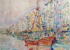 An Old port of Marseille - Paul Signac