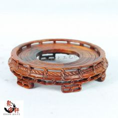 Stone carving rosewood mahogany wood carving handicraft circular base figure of Buddha are recommended vase furnishing articles