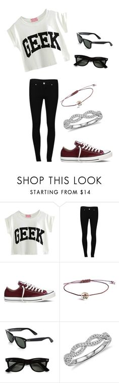 """""""@skaylergreen27"""" by fashionuber ❤ liked on Polyvore featuring 2nd One, Converse, Vivien Frank Designs, Ray-Ban, Blue Nile, women's clothing, women's fashion, women, female and woman"""