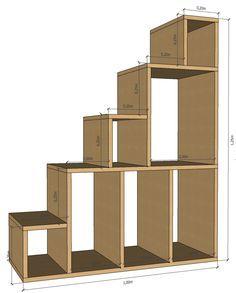 Plan 2D de l'escalier-étagère / EscalierEtagere.jpg