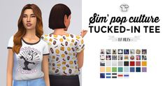 - Sim'Pop Culture tucked-in T-shirts Hi ! ♥︎ I've...