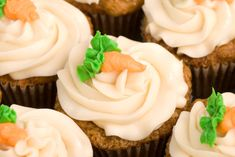 Georgetown Cupcake 50-Calorie Mini Carrot Cupcakes...and really only 50 calories. Hallelujah!