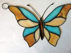 Stained glass suncatcher Butterfly / Custom stained glass wi… – Arts and Crafts Stained Glass Lamp Shades, Stained Glass Rose, Stained Glass Quilt, Stained Glass Ornaments, Custom Stained Glass, Stained Glass Designs, Stained Glass Panels, Stained Glass Projects, Fused Glass