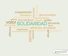 """Infografía sobre los valores que impulsa la Obra Social """"la Caixa"""". #DíaInternacionalSolidaridad"""