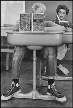 United States, 1955 by Wayne Miller/Magnum Photos Images Vintage, Vintage Photographs, Magnum Photos, School Daze, Old School, High School, Old Pictures, Old Photos, School Pictures