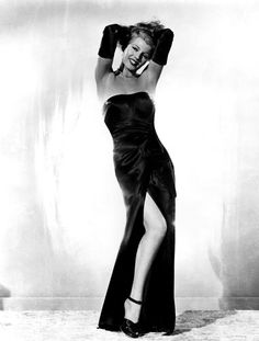 the famous Put the blame on Mame dress, as worn by Rita Hayworth in Gilda, dress by Jean Louis Vintage Hollywood, Hollywood Glamour, Classic Hollywood, Hollywood Divas, Jessica Rabbit, Matthew Mcconaughey, Rita Hayworth Gilda, Glamour Hollywoodien, Glamour Beauty