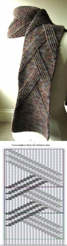 Стильный мужской шарф от Margarete Dolff