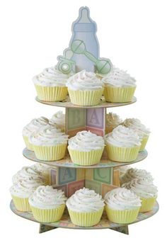 ABC Baby Shower Cupcake Stand