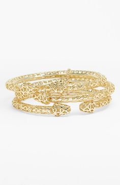 Kendra Scott 'Avery' Openwork Snake Bangles (Set of 3) available at #Nordstrom