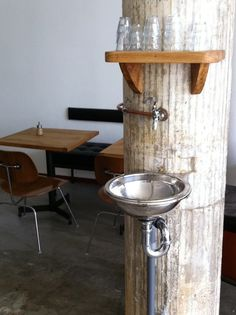 free water stand | at hopper coffee | rotterdam, netherlands