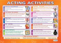 Drama School Poster- Acting Activities