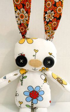Betty the Handmade Cute Bunny Rabbit Toy Plush by HinckleDoodle, $30.00