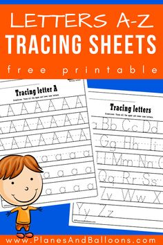 Alphabet tracing worksheets - perfect alphabet activities for learning letters and writing at the same time, FREE printable! Learning Letters for Toddlers Alphabet Writing Worksheets, Alphabet Writing Practice, Free Printable Alphabet Letters, Preschool Letters, Learning The Alphabet, Alphabet Activities, Handwriting Practice, Tracing Letters, Letters Kindergarten