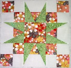 Lovequilt Block-A Star On My Square - Free Pattern by Cindy's Quilts, via Flickr